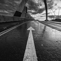 Buy canvas prints of  Squinty Bridge Arrow by Creative Photography Wales