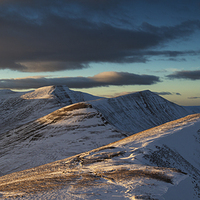 Buy canvas prints of  Brecon Beacons Winter Glow by Creative Photography Wales