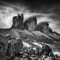 Buy canvas prints of Tre Cime in the Dolomites  by Creative Photography Wales