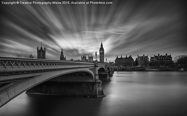 Westminster Bridge and Big Ben Canvas print by Creative Photography Wales