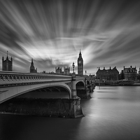 Buy canvas prints of Westminster Bridge and Big Ben by Creative Photography Wales