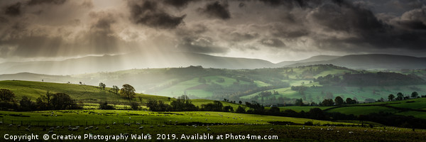 View of the mountains from Trallong, Brecon Beacon Canvas print by Creative Photography Wales