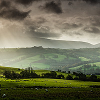 Buy canvas prints of View of the mountains from Trallong, Brecon Beacon by Creative Photography Wales