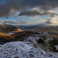 Buy canvas prints of Crib Goch view, Snowdonia by Creative Photography Wales