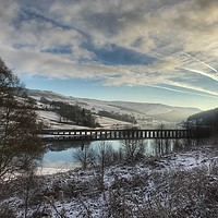Buy canvas prints of A snow covered Derwent Edge in Derbyshire. by Scott Simpson