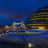 Buy canvas prints of City Hall & Tower Bridge by Paul Shears Photography