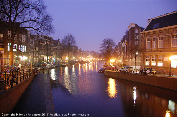 Prinsengracht canal early morning Canvas print by Banjiwayume Photography