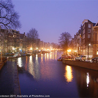 Buy canvas prints of Prinsengracht canal early morning by Banjiwayume Photography