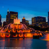 Buy canvas prints of Buckingham Fountain at Dusk by Banjiwayume Photography
