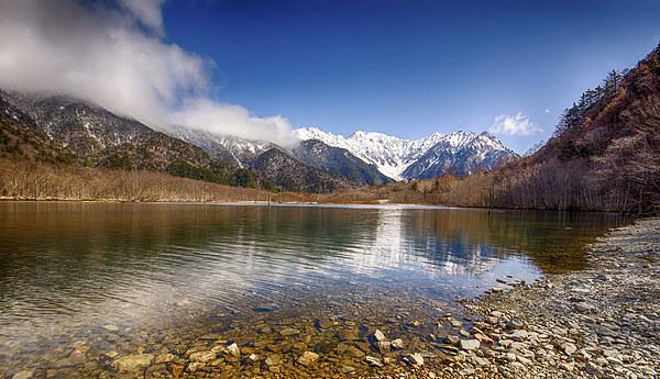 Japanese Alps Canvas print by Banjiwayume Photography