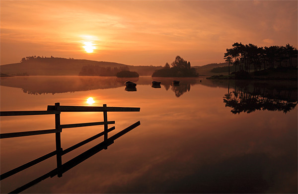 Knapps Loch Sunrise Canvas print by Scottish Landscape and Wildlife Canvas Print