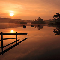Buy canvas prints of Knapps Loch Sunrise by Scottish Landscape and Wildlife Canvas Print