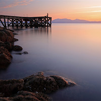 Buy canvas prints of Portencross Sunset by Scottish Landscape and Wildlife Canvas Print