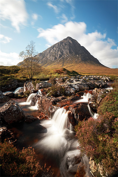 Mountain waterfall, Glencoe Canvas Print by Scottish Landscape and Wildlife Canvas Print