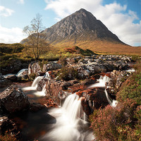 Buy canvas prints of Mountain waterfall, Glencoe by Scottish Landscape and Wildlife Canvas Print