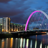 Buy canvas prints of Glasgow Clyde Arc by Scottish Landscape and Wildlife Canvas Print