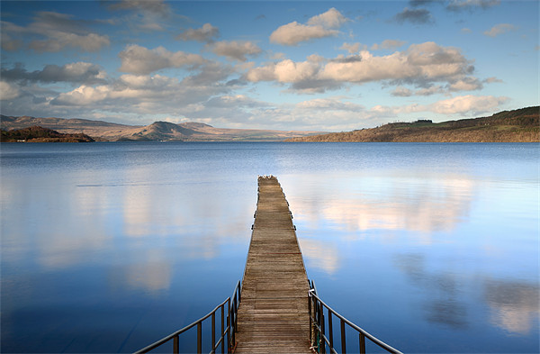 The Cruin Jetty Canvas Print by Scottish Landscape and Wildlife Canvas Print