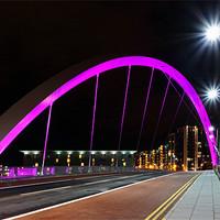 Buy canvas prints of Glasgow Clyde Arc Bridge by Scottish Landscape and Wildlife Canvas Print