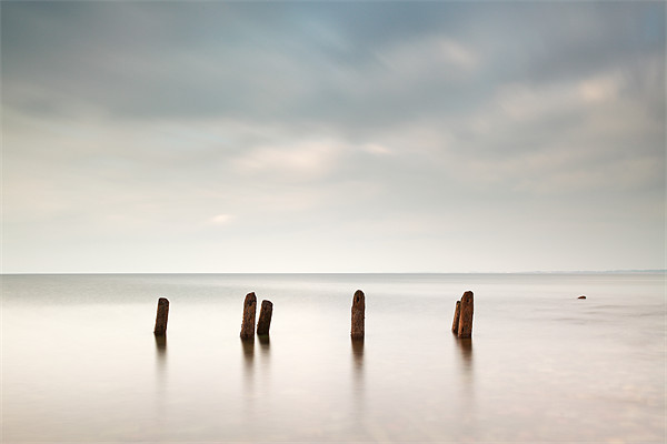Groyne Seascape Canvas Print by Scottish Landscape and Wildlife Canvas Print