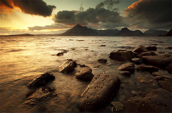 Elgol Sunset Canvas Print by Scottish Landscape and Wildlife Canvas Print