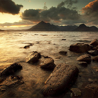 Buy canvas prints of Elgol Sunset by Scottish Landscape and Wildlife Canvas Print