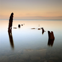 Buy canvas prints of Ayrshire coast sea groynes by Scottish Landscape and Wildlife Canvas Print