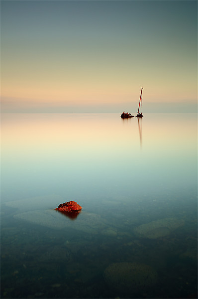 Flat calm shipwreck Canvas Print by Scottish Landscape and Wildlife Canvas Print
