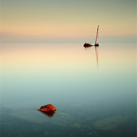 Buy canvas prints of Flat calm shipwreck by Scottish Landscape and Wildlife Canvas Print