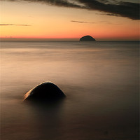 Buy canvas prints of Ailsa Craig Sunset by Scottish Landscape and Wildlife Canvas Print