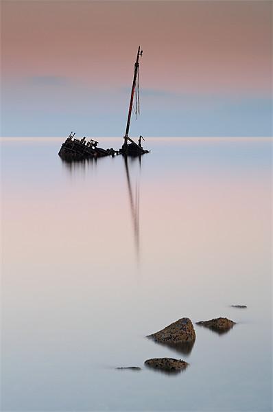 Flat calm shipwreck Canvas print by Scottish Landscape and Wildlife Canvas Print