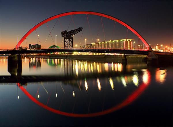 Glasgow Clyde Arc Bridge Canvas Print by Scottish Landscape and Wildlife Canvas Print