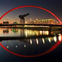 Buy canvas prints of Glasgow Clyde Arc Bridge by Scottish Landscape and Wildlife Canvas Print