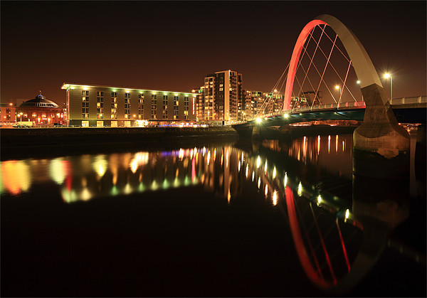 Glasgow Clyde Arc Bridge Canvas print by Scottish Landscape and Wildlife Canvas Print