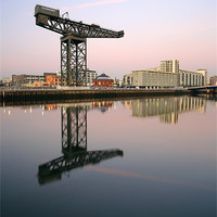Buy canvas prints of Glasgow River Clyde Reflections by Scottish Landscape and Wildlife Canvas Print