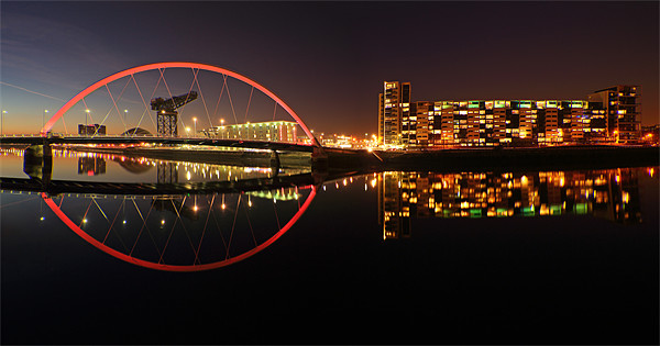 Glasgow Clyde Arc Canvas print by Scottish Landscape and Wildlife Canvas Print