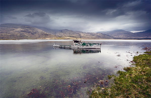 Pennyghael boat Canvas Print by Scottish Landscape and Wildlife Canvas Print