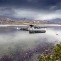 Buy canvas prints of Pennyghael boat by Scottish Landscape and Wildlife Canvas Print