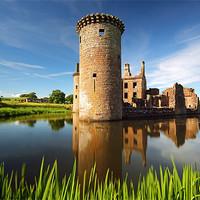 Buy canvas prints of Caerlaverock Castle by Scottish Landscape and Wildlife Canvas Print