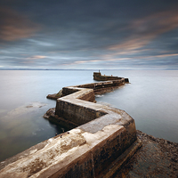 Buy canvas prints of Pier Sunset by Scottish Landscape and Wildlife Canvas Print