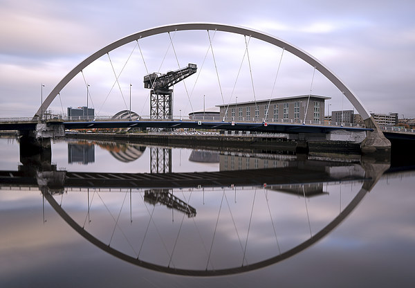 The Clyde Arc Canvas Print by Scottish Landscape and Wildlife Canvas Print