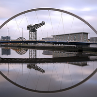 Buy canvas prints of The Clyde Arc by Scottish Landscape and Wildlife Canvas Print