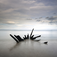 Buy canvas prints of Shipwreck by Scottish Landscape and Wildlife Canvas Print
