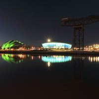 Buy canvas prints of Glasgow Clyde Reflections by Scottish Landscape and Wildlife Canvas Print