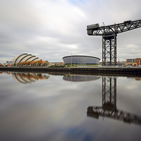 Buy canvas prints of Glasgow Clyde Waterfront by Scottish Landscape and Wildlife Canvas Print