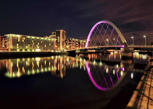 Clyde Arc Bridge Canvas print by Scottish Landscape and Wildlife Canvas Print
