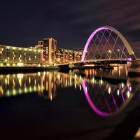 Buy canvas prints of Clyde Arc Bridge by Scottish Landscape and Wildlife Canvas Print
