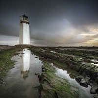 Buy canvas prints of Southerness Lighthouse by Scottish Landscape and Wildlife Canvas Print