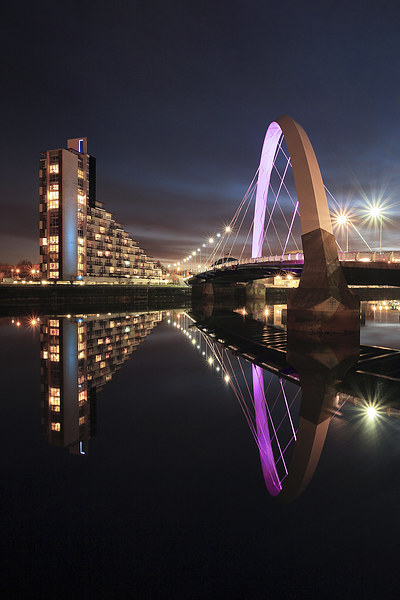 Clyde Arc Canvas print by Scottish Landscape and Wildlife Canvas Print