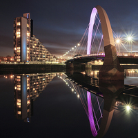 Buy canvas prints of Clyde Arc by Scottish Landscape and Wildlife Canvas Print
