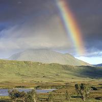 Buy canvas prints of  Glencoe Rainbow by Scottish Landscape and Wildlife Canvas Print